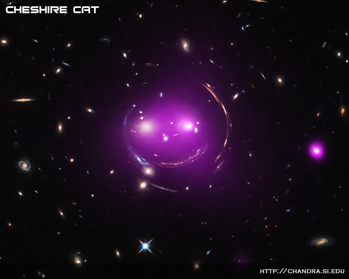 Galaksijoukko näkyvässä valossa ja röntgenalueella