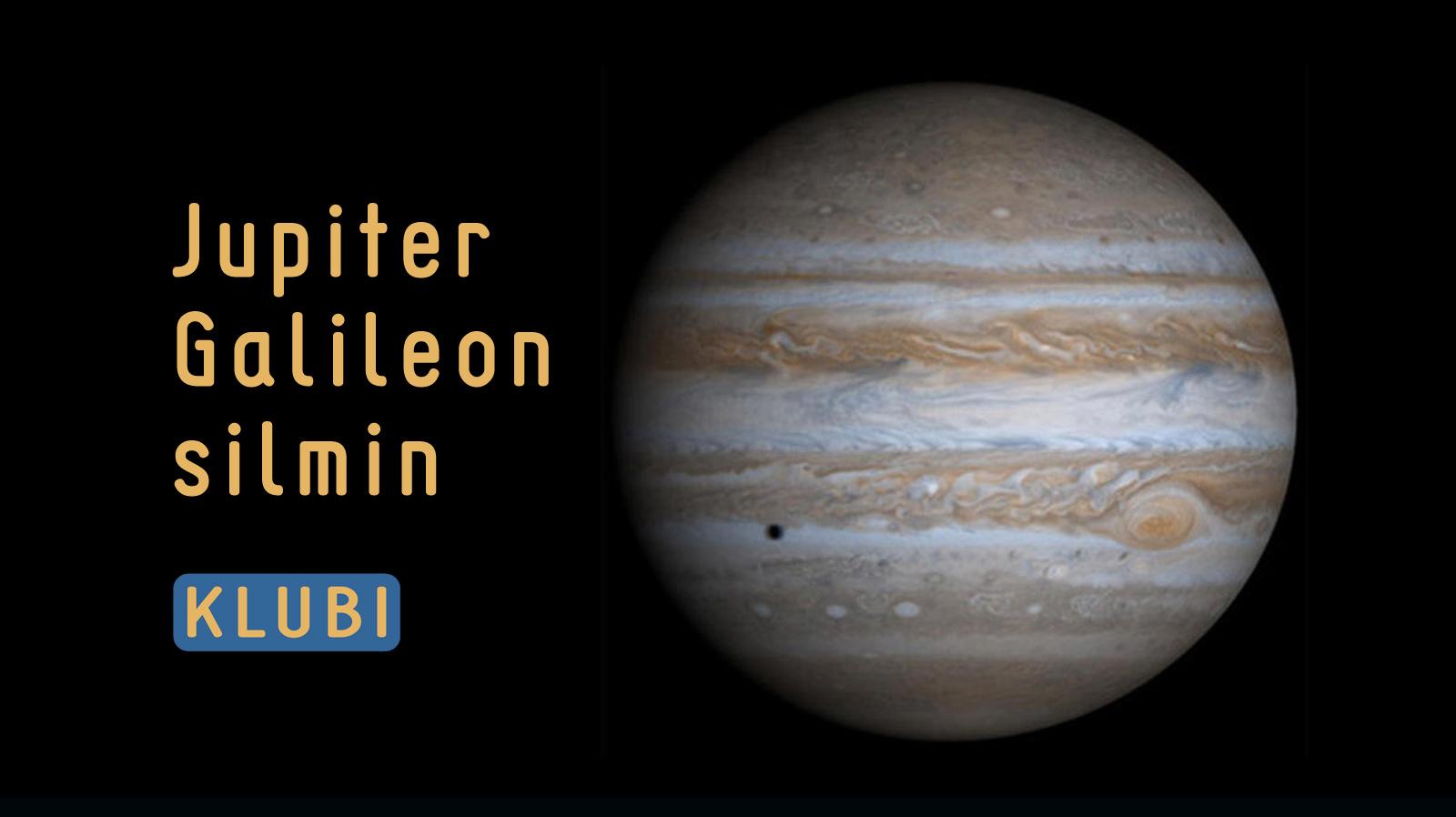Jupiter Galileon silmin