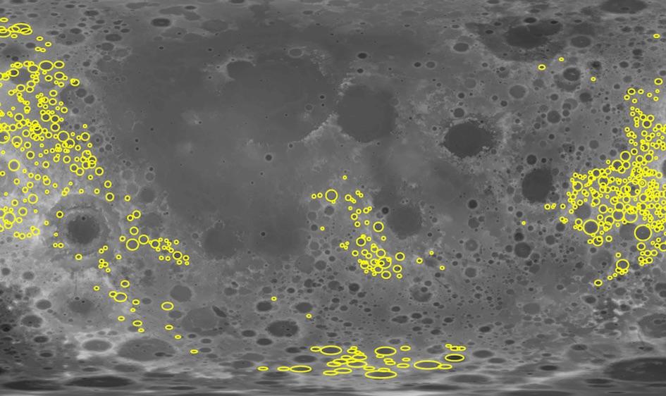 Kuun kääntöpuolen kraattereita