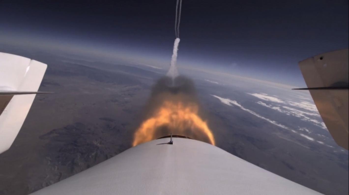 SpaceShip2 koelennolla