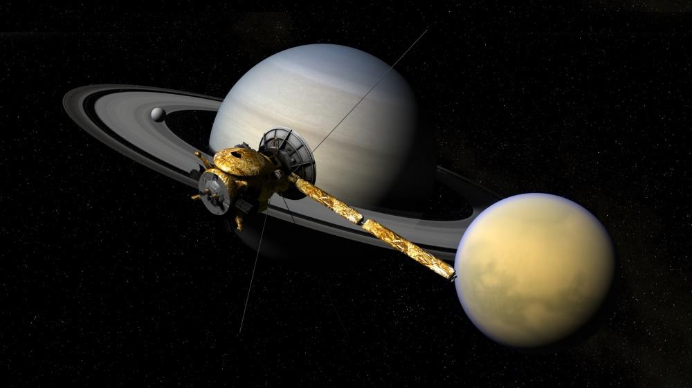 Cassini, Saturnus ja Titan