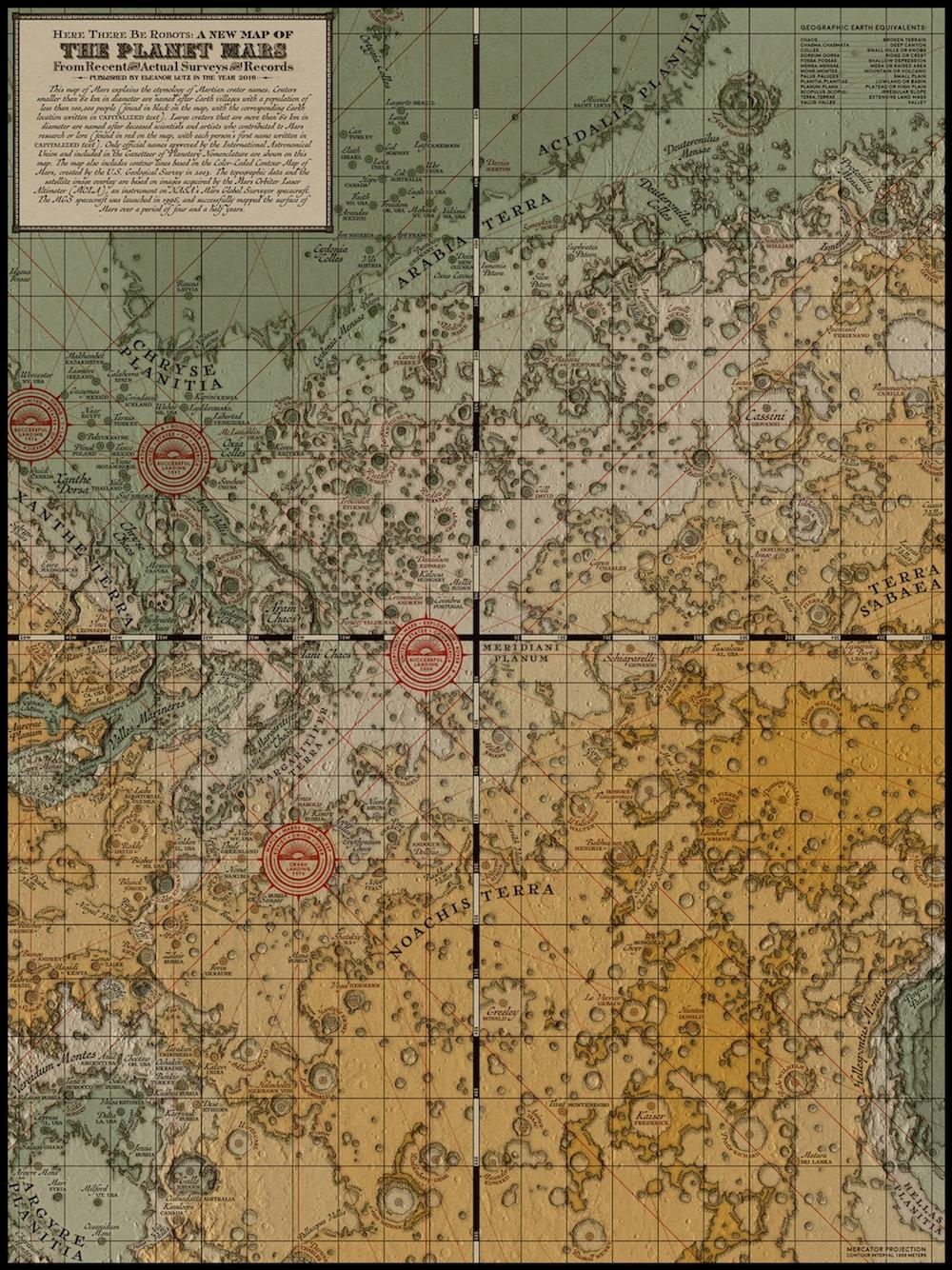 Hammastyttava Antiikkinen Kartta Marsista Tiedetuubi